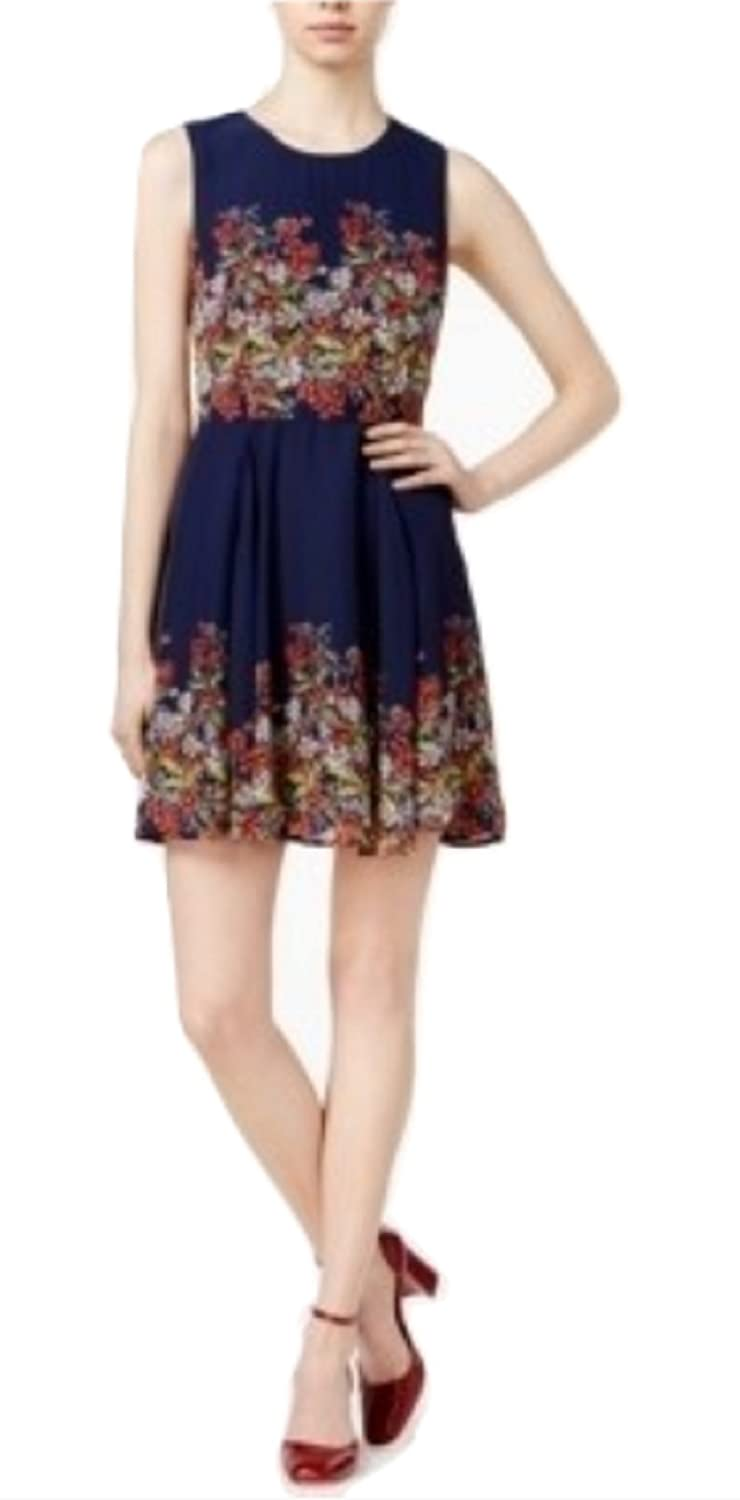 Maison Jules Womens Floral Print Fit & Flare Dress multicolord S