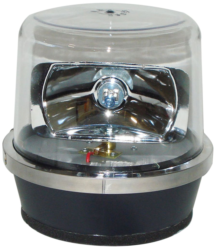 North American Signal 112HRMX-C Halogen Rotating Beacon, Magnetic Mount, Clear
