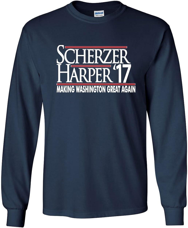 The Silo Long Sleeve Navy Washington Harper Scherzer 17 T-Shirt