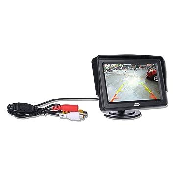 4,3 pulgadas TFT LCD color Monitor giratorio portátil para coche de visión trasera Aparcamiento