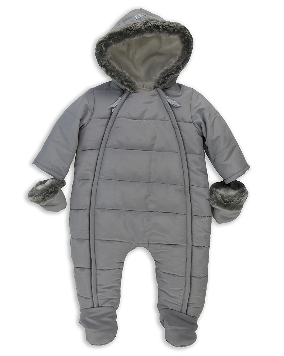 1d6f1d4a0 The Essential One - Baby Unisex Fur Trimmed Snowsuit Pramsuit ...