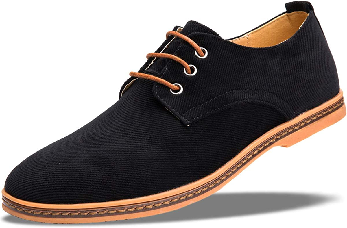 Amazon.com | 4HOW Mens Casual Oxford Lace Up Shoe | Oxfords