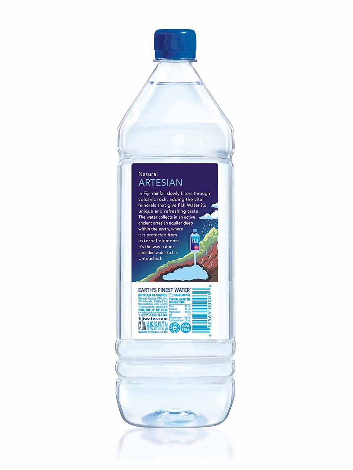 Fiji Natural Artesian Water 1 5l Single Bottle