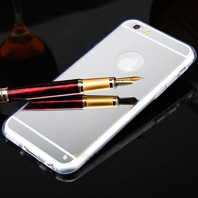 9 opinioni per SainCat Custodia iPhone 6 Plus, iPhone 6S Plus Cover Silicone Specchio, Ultra