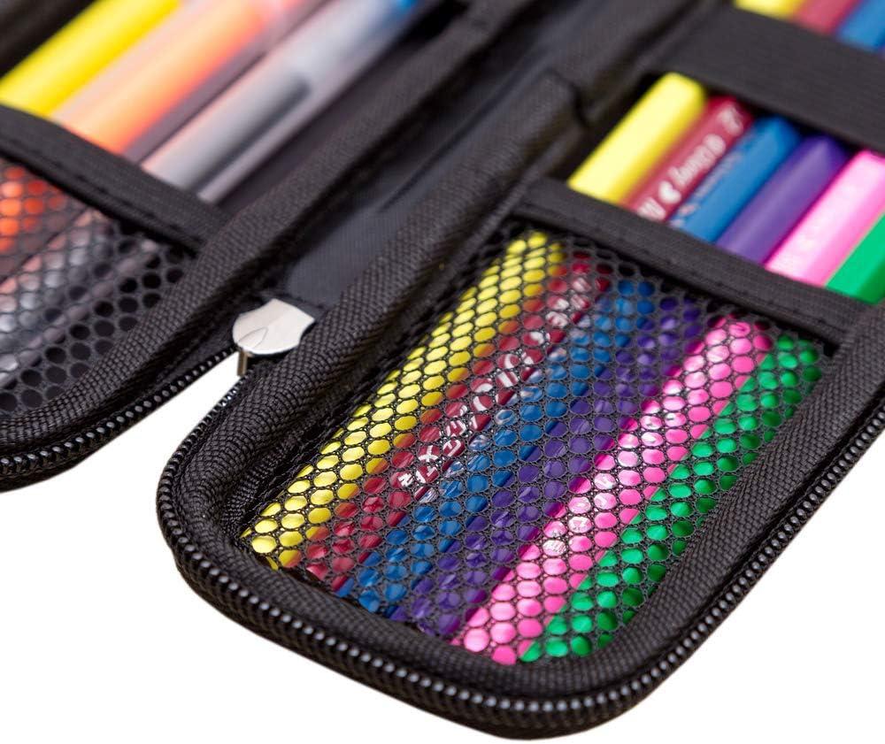 XLKJ Negro EVA Caja de la Pluma, Estuche Multifuncional para Pluma estilográfica, Bolígrafo,Lápiz Táctil: Amazon.es: Electrónica