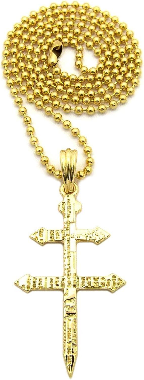 Patriarchal of Lorraine Heraldic Crusades Knights Templar Cross Pewter Pendant