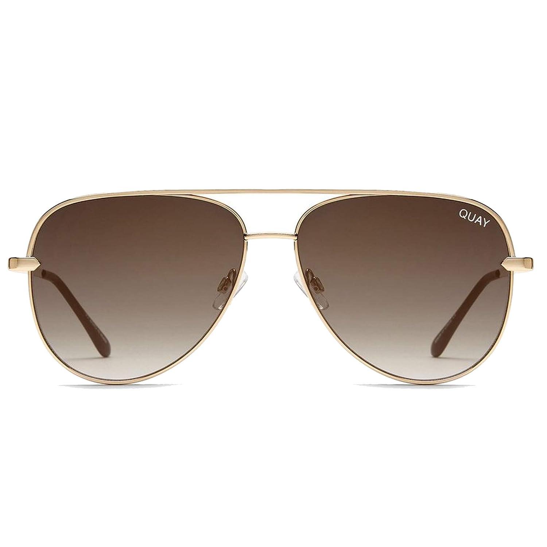 6a8f28ea97342 Amazon.com  Quay Australia SAHARA MINI Women s Sunglasses Oversized Aviator  Sunnies - Black Purple  Clothing