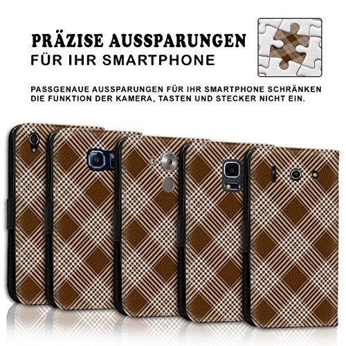 Wallet Book Style Flip Handy Tasche Case Schutz Hülle Schale Motiv Etui für Apple iPhone 6 Plus / 6S Plus - Design Flip MV278