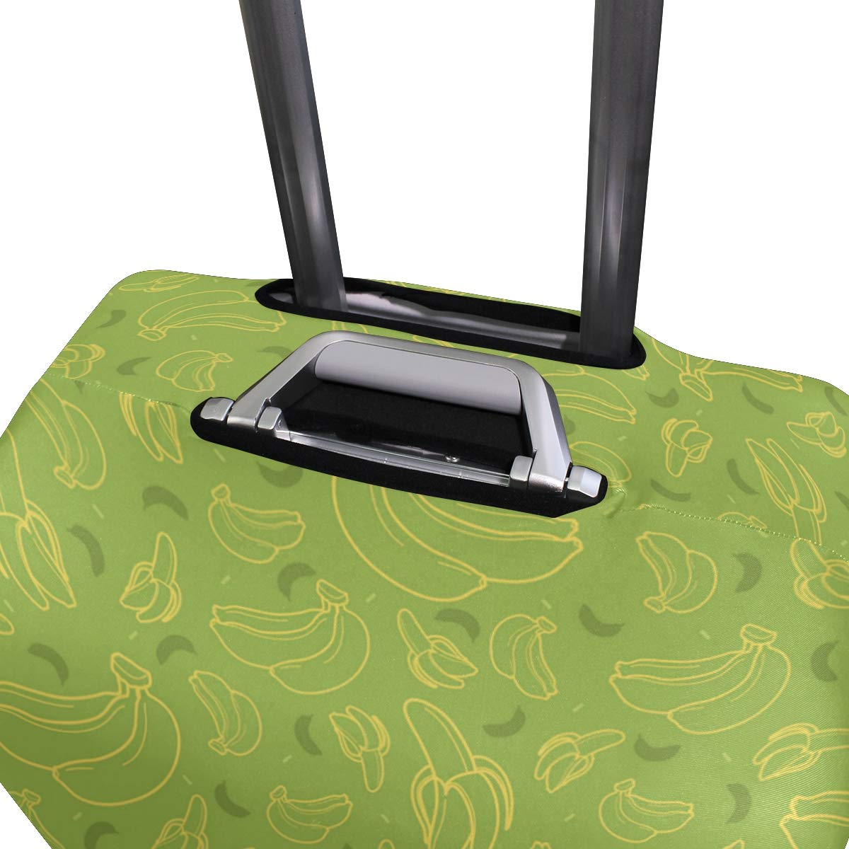 Beautiful Banana Leaf Supplement Traveler Lightweight Rotating Luggage Protector Case Can Carry With You Can Expand Travel Bag Trolley Rolling Luggage Protector Case