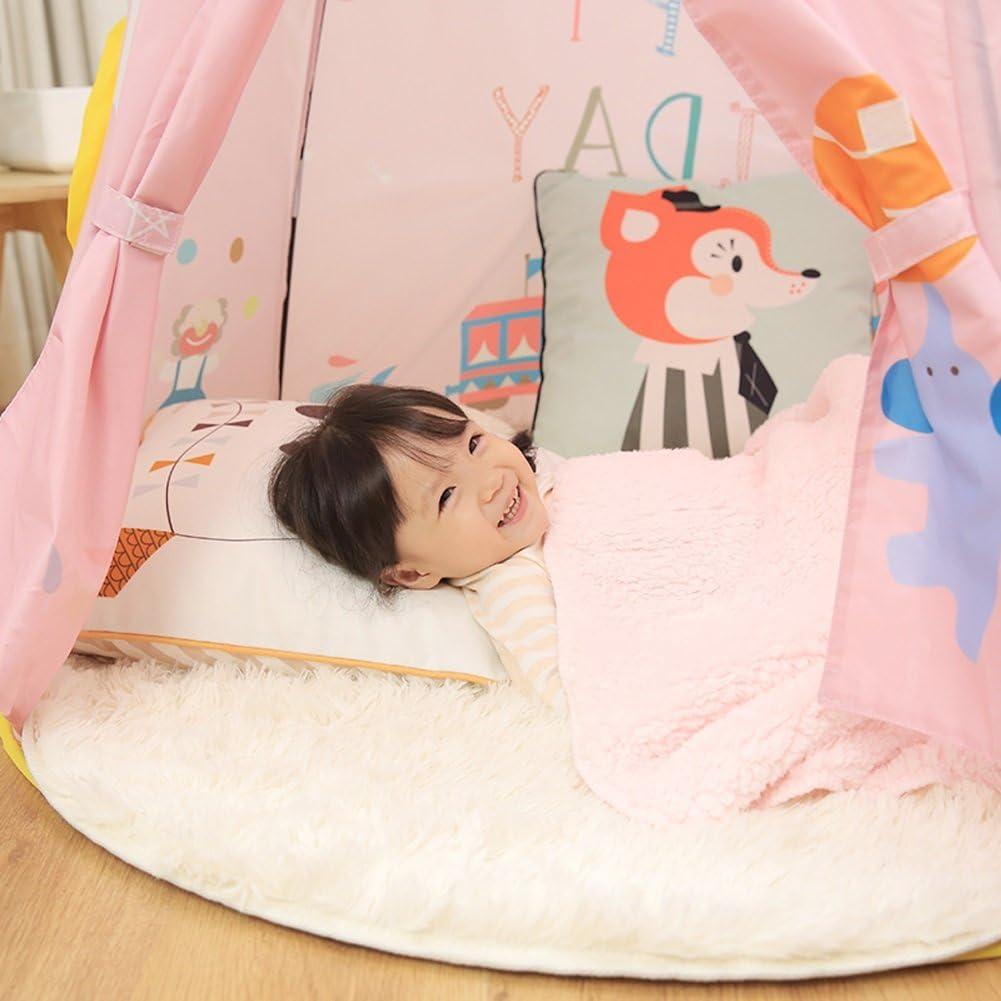 YYH Los niños juegan la Tienda Plegable portátil Interior de la casa del Castillo (Rosa, Azul 110 * 125cm Embalaje de 1) (Color : Pink) Pink