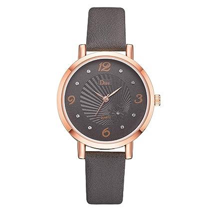 0cf2c861046 Amazon.com   XBKPLO Quartz Watches for Women Fashion Lady Temperament Rose  Gold Diamond Analog Wrist Watch Fine Wild Leather Strap Ladies Bracelet  Gift ...