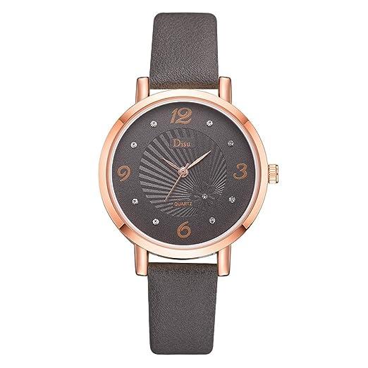 Reloj Mujer Lujo Reloj De Cuarzo Término Análogo Moda Dama Correa De Cuero Relojes Textura del Sol Elegante Watches Niña: Amazon.es: Relojes