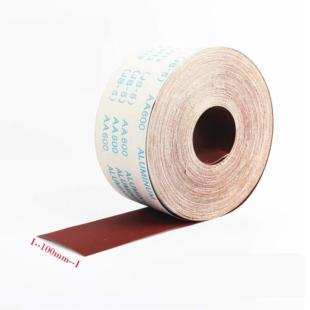 BE-TOOL Rollo de papel de lija 1 m, 80 /– 800 granos, para superficies contorneadas y superficies curvas