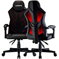 UOMAX Gaming Chairs, Ergonomic Computer Chair for Gamers, Reclining Racing Chair with LED Lights, Armrests and Lumbar Cushion.
