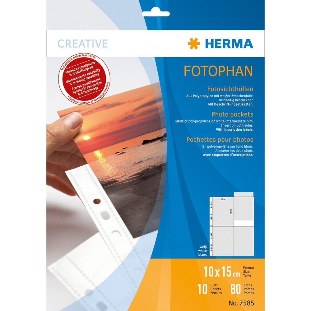 i PP foglio di protezione 10pezzo HERMA 7585 100 x 150 mm Polipropilene