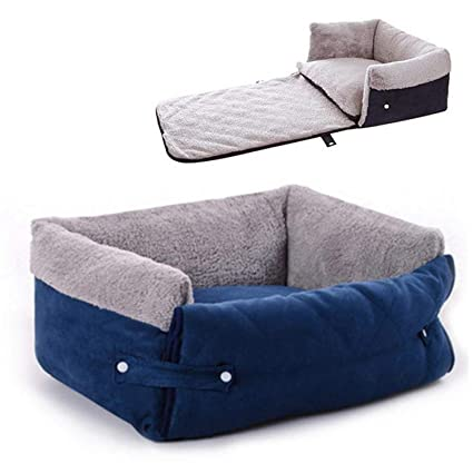 Amazon.com : Pet Dog Bed Multi Function Clamshell Square ...