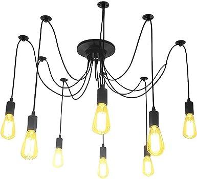 Bianco 3 Lampada E27 Lampadario Retro Vintage Classico Edison Fai Da Te Lampada A Ragno A Soffitto Illuminazione Per Interni Lampadari Lampade A Sospensione E Plafoniere