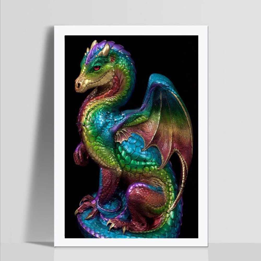 Dimanul diamond painting,5D Dragon Diamond Painting Kits for Adults Kids Wall Decor Crystal Diamond Painting Decoration for Living Room Gift Toy Partial Drill 30X40CM