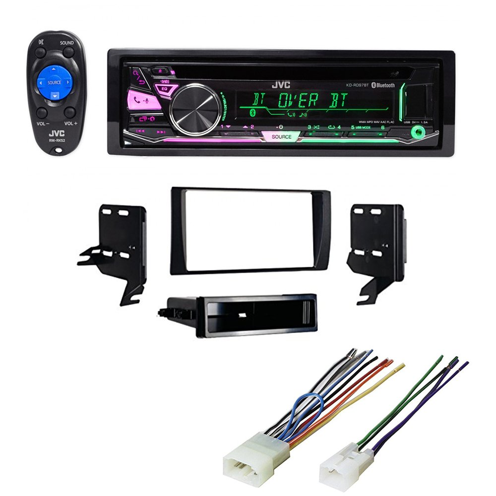 Toyota 2002 - 2006 Camry (without JBL sound system) JVC Car Stereo CD Player Receiver Bluetooth Dash Mounting Kit Harness by JVC