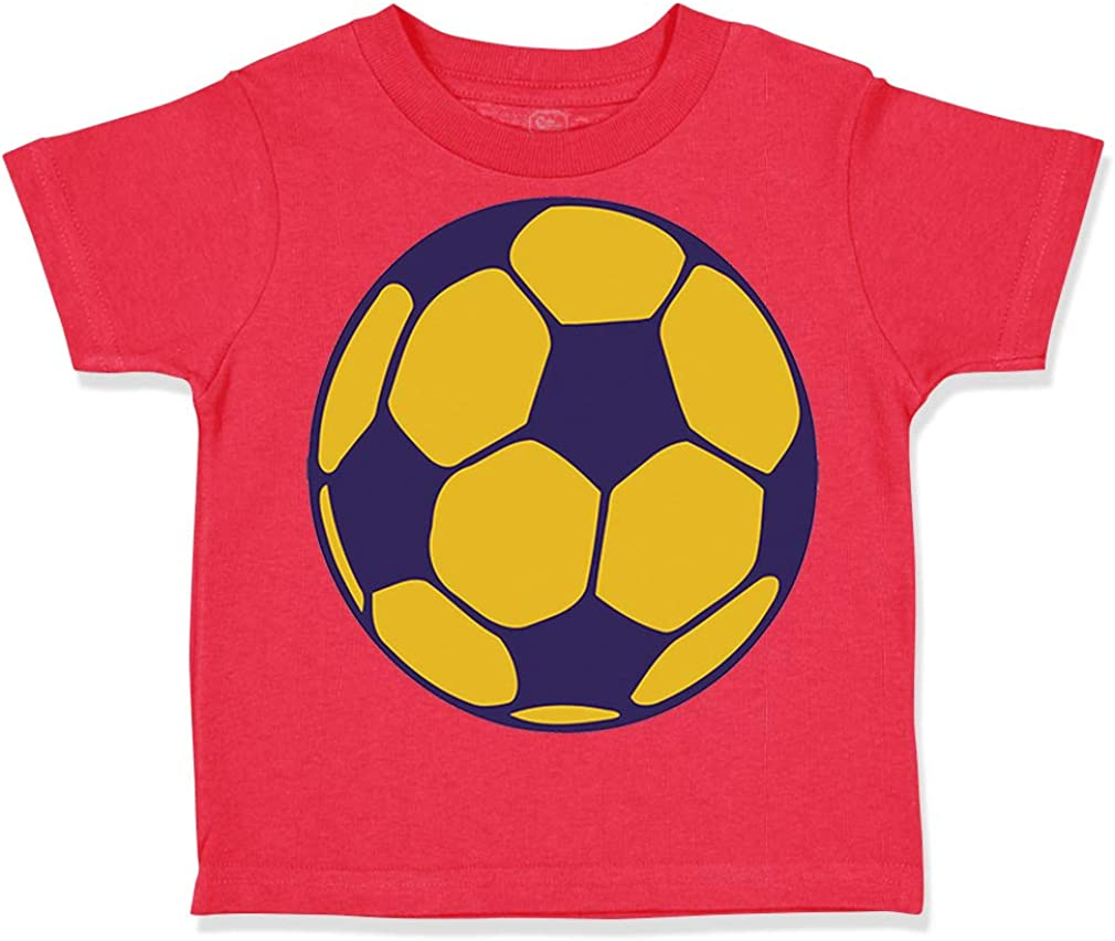 Custom Toddler T-Shirt Soccer Ball C Cotton Boy /& Girl Clothes Funny Graphic Tee