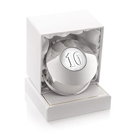 Girls 16th Birthday Silver Plated Trinket Ring Earrings Small Jewellery Box In A Gift 16 Sixteenth Amazoncouk Kitchen Home