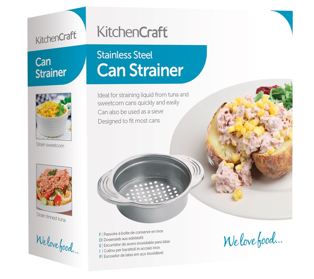 Amazon.com: Stainless Steel Food Can Strainer Sieve: Food Strainers ...