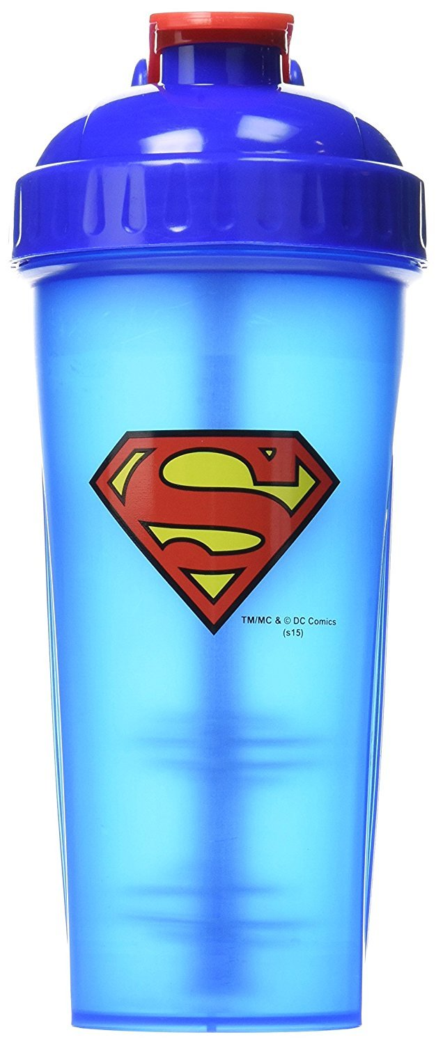 Performa Justice League & DC Comic - Leak Free Protein Shaker Bottle with Actionrod Mixing Technology for All Your Protein Needs! Shatter Resistant & Dishwasher Safe