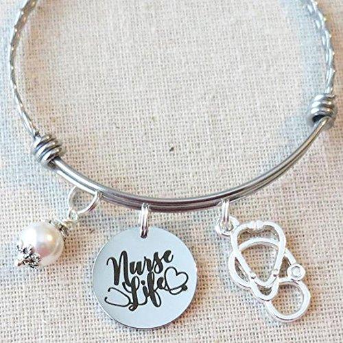 Amazoncom Nurse Life Charm Bracelet Gift Graduate Gift