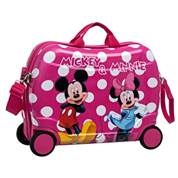 Disney Minnie y Mickey Lunares Maleta Correpasillos, Color Rosa, 34 litros: Amazon.es: Equipaje