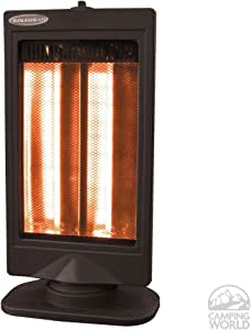 Soleus HR3-08-21 HALOGEN HEATER WITH FLAT PANEL DESIGN AND 2 HEAT SETTINGS