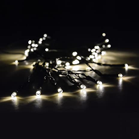 solar string lights by earth sky works 37ft with 100 tiny long lasting - Long Christmas Lights