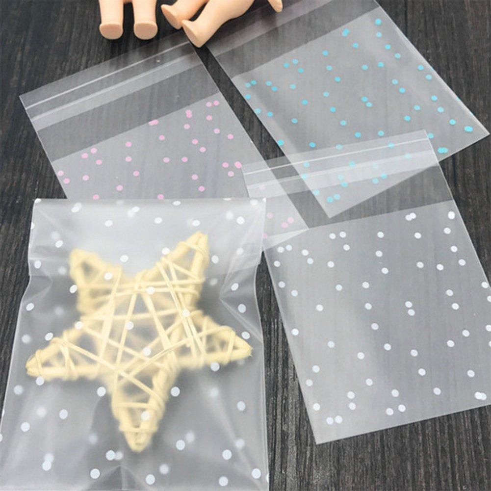 Toruiwa Süßigkeit Taschen Selbstklebend Verpackungsbeutel Keks Tüten Beutel Party Geschenk Verpackung für Kinder Geburtstag Baby Dusche Weihnachten Dekor