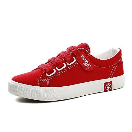 Shi Velcro Lona De Banda Deporte Zapatos Zapatillas mwvNO0y8n