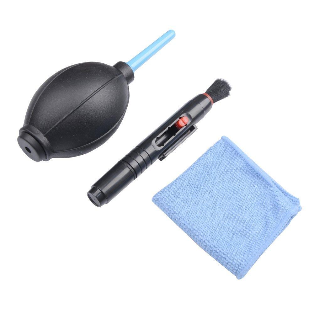 kaifang 3 en 1 lente de la cá mara kit de limpieza para lente de limpieza pluma + Cepillo + pelusas libre toallitas Kit de soplador de aire para Canon Nikon Sony lente filtro de cartucho 021