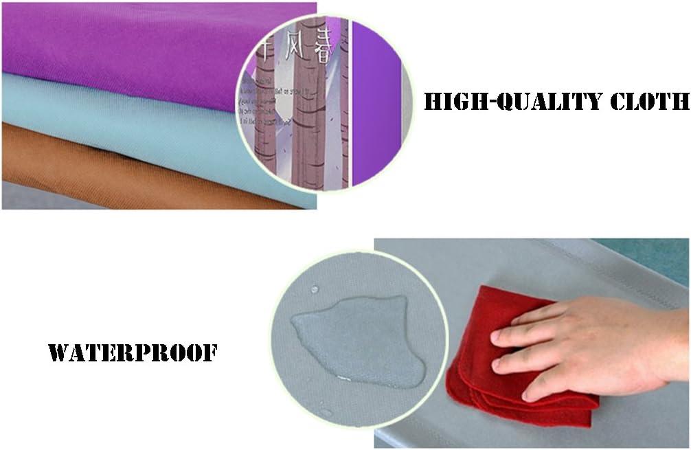 Farbe : Gray NSGP Metall Schuhregal mit Abdeckung Grau 4 Tier Tuch Einstellbare Regal Veranstalter Halter Faltbare Schuh Box Organizer