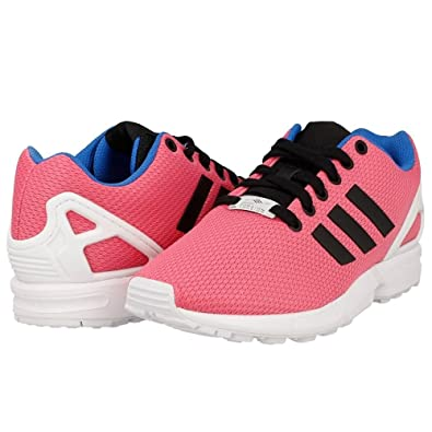 dd2e65f9b adidas Originals ZX Flux Women s Pink mesh Torsion Running Trainers (UK 4.5    EU 37
