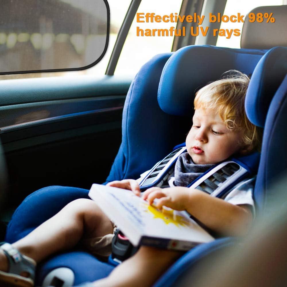 Pare-Soleil Fen/être Pare-soleils pour vitres lat/érales Blocs Plus de 97/% des Rayons UV nocifs Prot/égez Enfants B/éb/é Adultes Animaux pour la Plupart de Voitures omitium Pare-Soleil Voiture