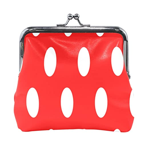 5390516ceaf3 Coin Purse White And Red Polka Dots Womens Wallet Clutch Bag Girls ...
