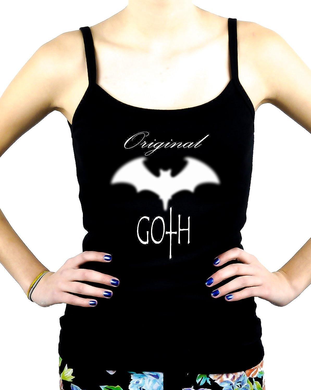 Original Goth w/ Blurred Bat Women's Spaghetti Strap Shirt Dark Underground Cami