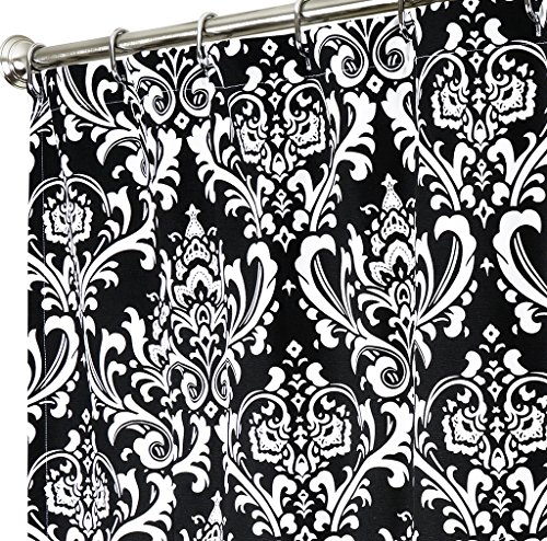 black white damask shower curtain - 6
