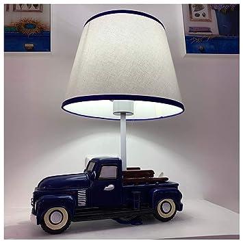 Miss You Dibujos Animados Azul Coche Dormitorio Cama lámpara de ...