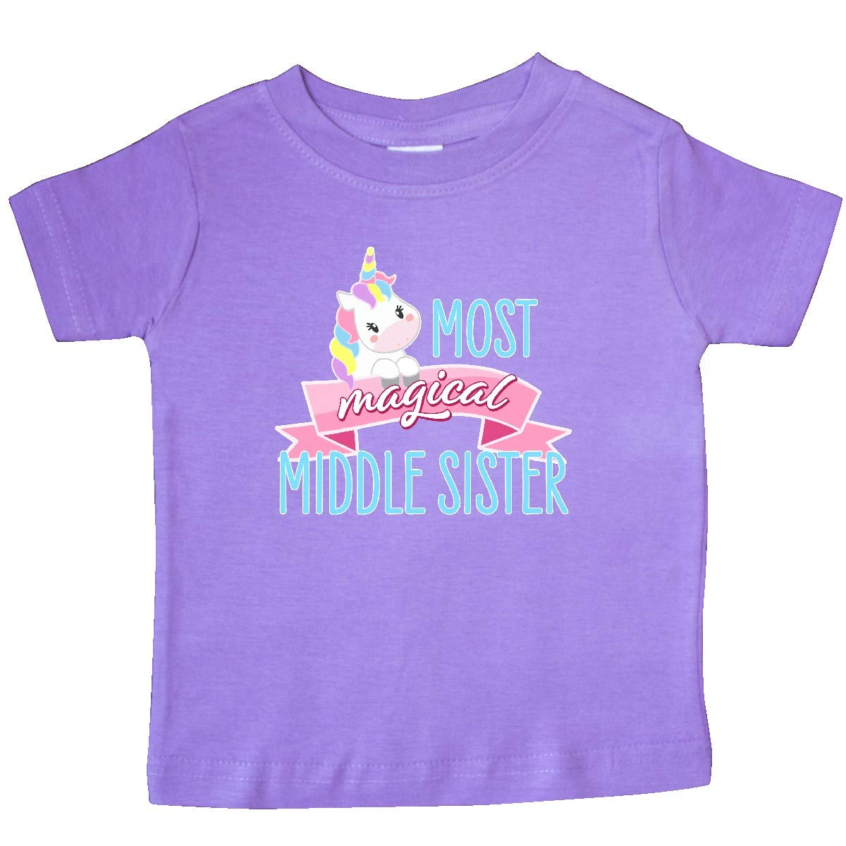 Cute Unicorn Baby T-Shirt inktastic Most Magical Middle Sister