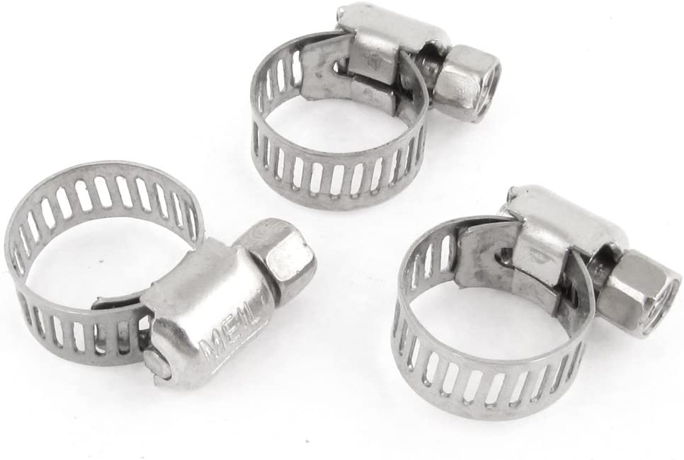 // Uxcell a13073100ux1021 Ltd Uxcell Stainless Steel 6 mm to 12 mm Hose Pipe Clamps Clips Fastener 3 Piece Dragonmarts Co