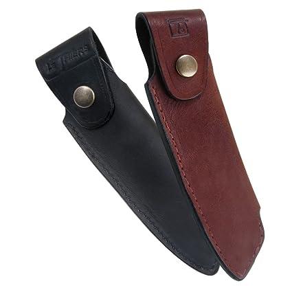 Laguiole Actiforge - Estuche de piel para cuchillo Le Thiers. Fabricado en Francia de manera artesanal