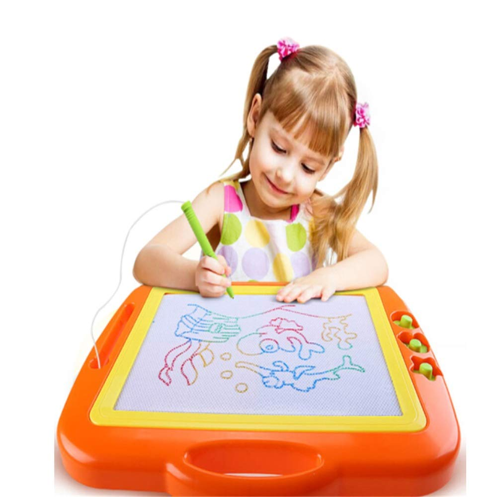 Sumferkyh Magnetic Drawing Board For Kids Colorful Doodle Toy Etching Sketch Education Gift Set Colorful Drawing Board