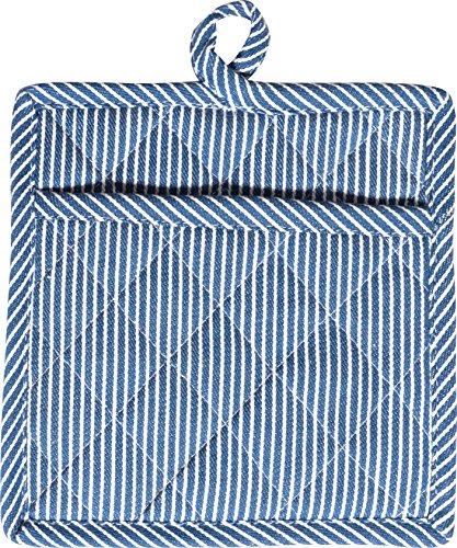 KAF by HIC 02996 Striped Pot Mitt, Blue