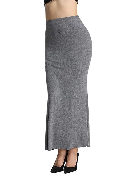 iLoveSIA Jupe Longue Femme Moulante Extensible