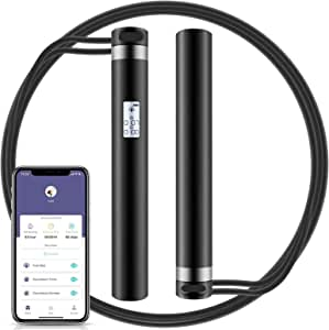 Jump Rope, Smart Rope with APP Data Analysis, USB Rechargeable Skipping Rope with HD LED Display for Fitness, Crossfit, Gym, Burn Calorie - Adjustable Jumping Rope for Men, Women, Kids, Girls