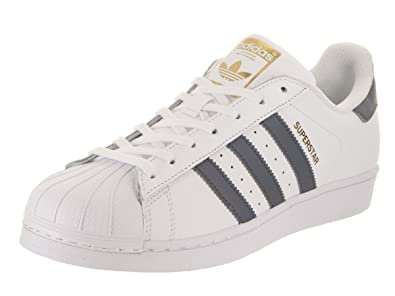 huge selection of 45451 3502d Amazon.com   adidas Superstar Foundation Mens in White Onix Metallic Gold,  7.5   Fashion Sneakers