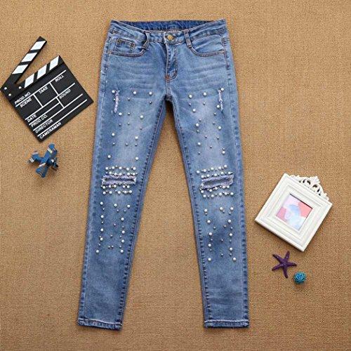 Donna Lilicat Jeans Blue Pants Lilicat Pants 7g0wq04BP